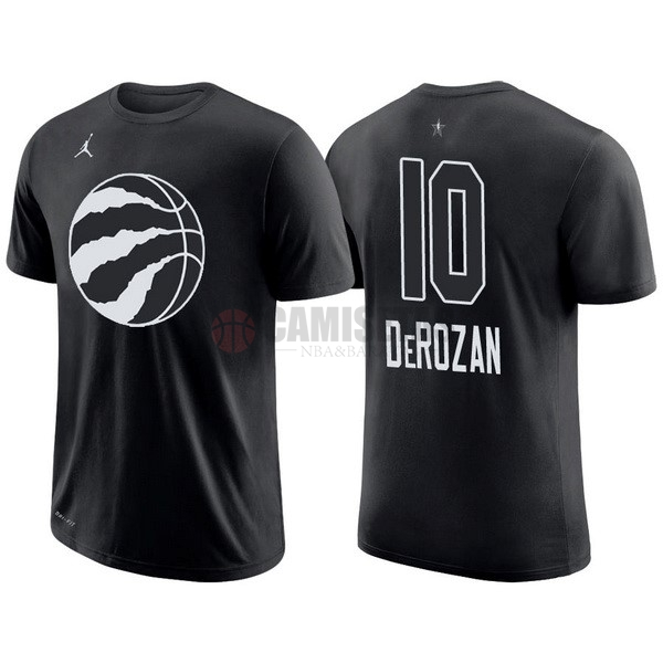 Camisetas NBA 2018 All Star Manga Corta NO.10 DeMar DeRozan Negro Barats