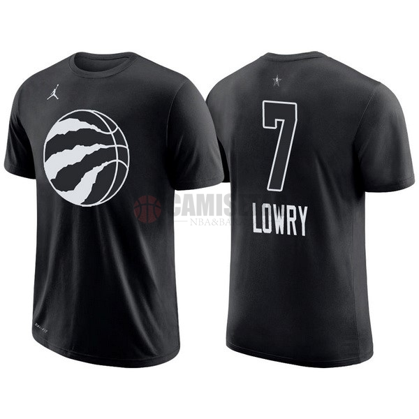 Camisetas NBA 2018 All Star Manga Corta NO.7 Kyle Lowry Negro Barats