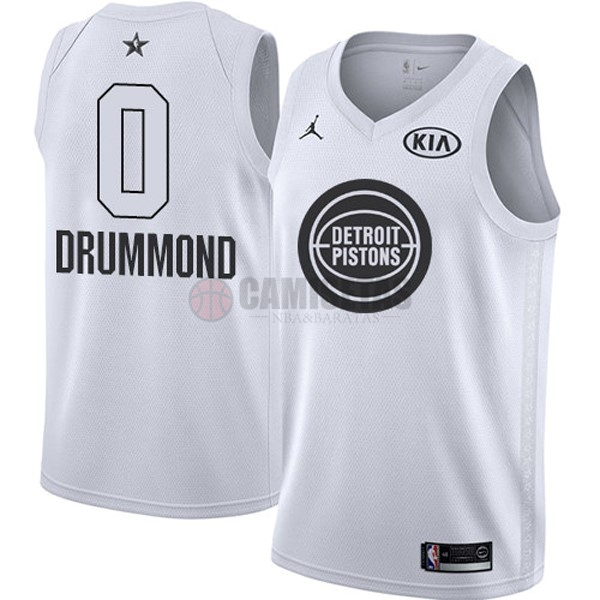 Camisetas NBA 2018 All Star NO.0 Andre Drummond Blanco Barats