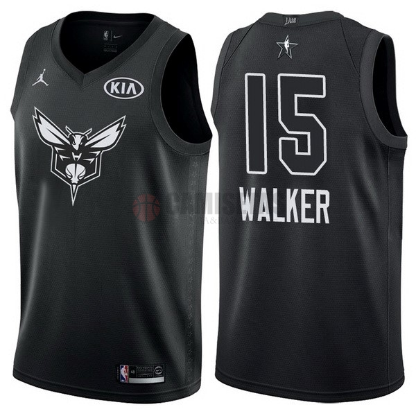 Camisetas NBA 2018 All Star NO.15 Kemba Walk Negro Barats