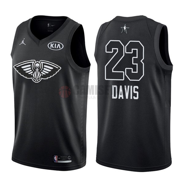Camisetas NBA 2018 All Star NO.23 Anthony Davis Negro Barats