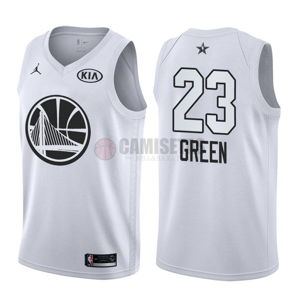 Camisetas NBA 2018 All Star NO.23 Draymond Green Blanco Barats