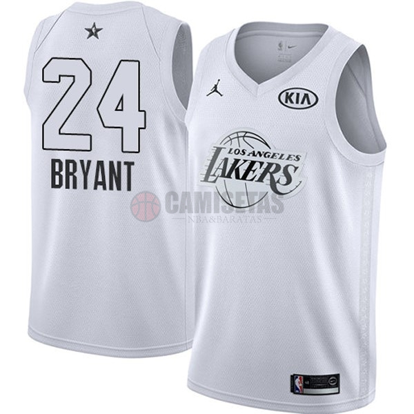 Camisetas NBA 2018 All Star NO.24 Kobe Bryant Blanco Barats