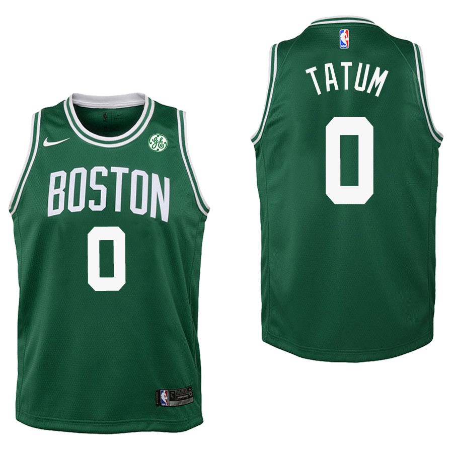 Camisetas NBA Niño Boston Celtics NO.0 Jayson Tatum Verde 2017-18 Barats