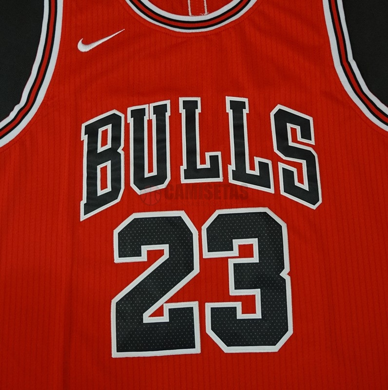 ... Camisetas NBA Nike Chicago Bulls NO.23 Michael Jordan Rojo Icon Barats  ... 010d46d0b94