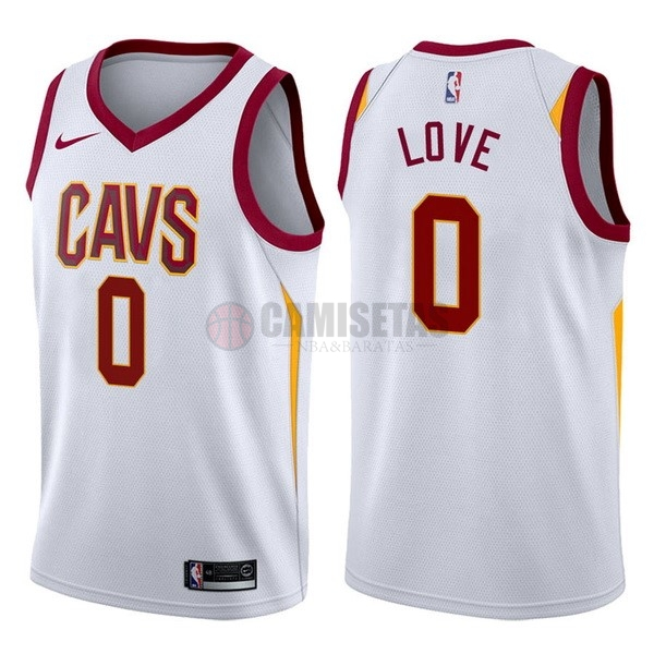 Camisetas NBA Nike Cleveland Cavaliers NO.0 Kevin Love Blanco Association Barats