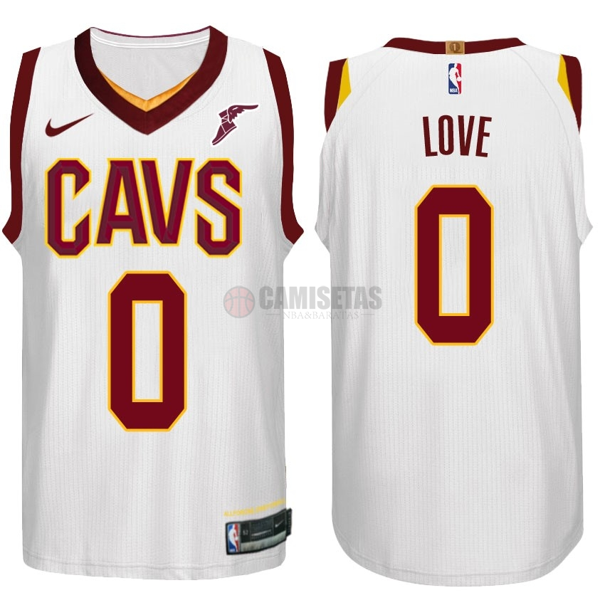 Camisetas NBA Nike Cleveland Cavaliers NO.0 Kevin Love Blanco Barats
