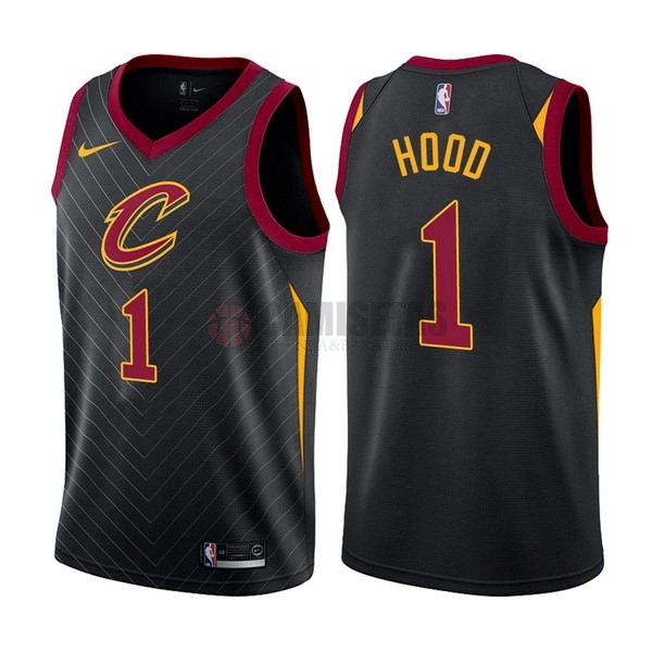 Camisetas NBA Nike Cleveland Cavaliers NO.1 Derrick Rose Negro Statement Barats