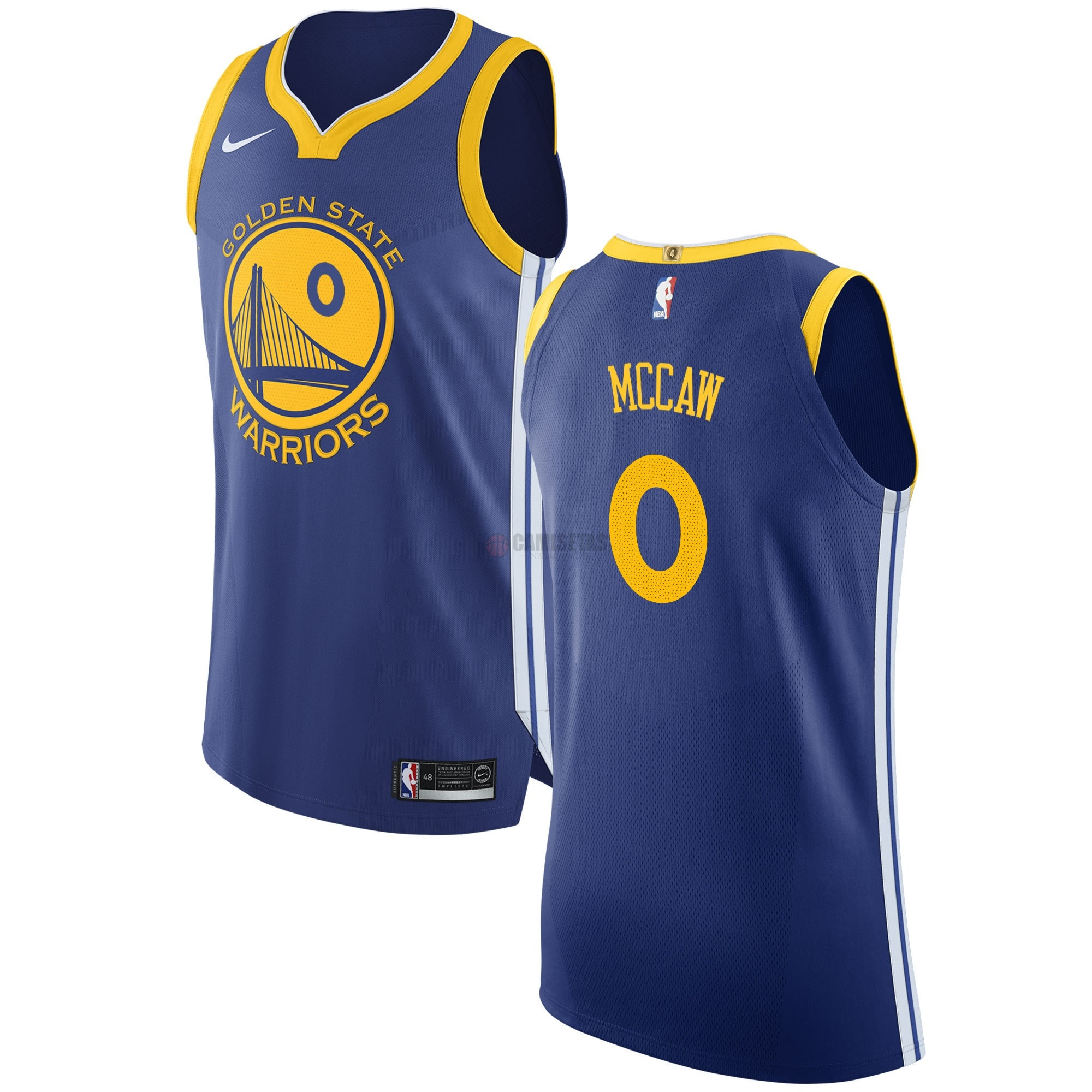 Camisetas NBA Nike Golden State Warriors NO.0 Patrick McCaw Azul Icon Barats