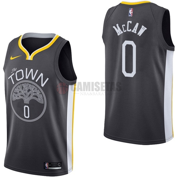 Camisetas NBA Nike Golden State Warriors NO.0 Patrick McCaw Negro Statement Barats