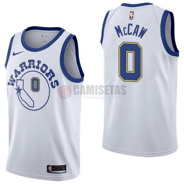 Camisetas NBA Nike Golden State Warriors NO.0 Patrick McCaw Nike Retro Blanco Barats