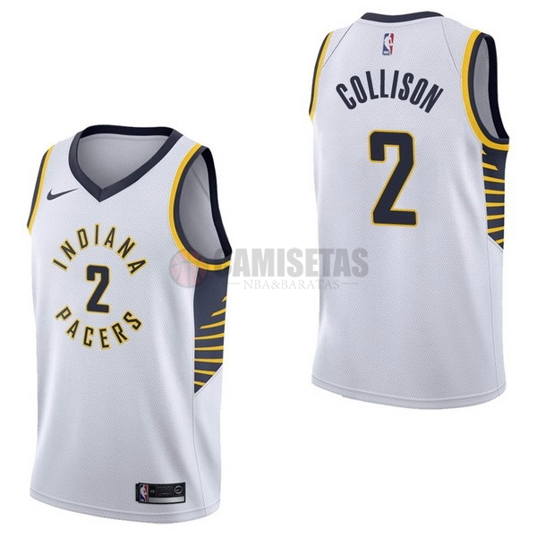 Camisetas NBA Nike Indiana Pacers NO.2 Darren Collison Blanco Association Barats