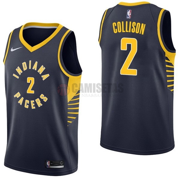 Camisetas NBA Nike Indiana Pacers NO.2 Darren Collison Marino Icon Barats