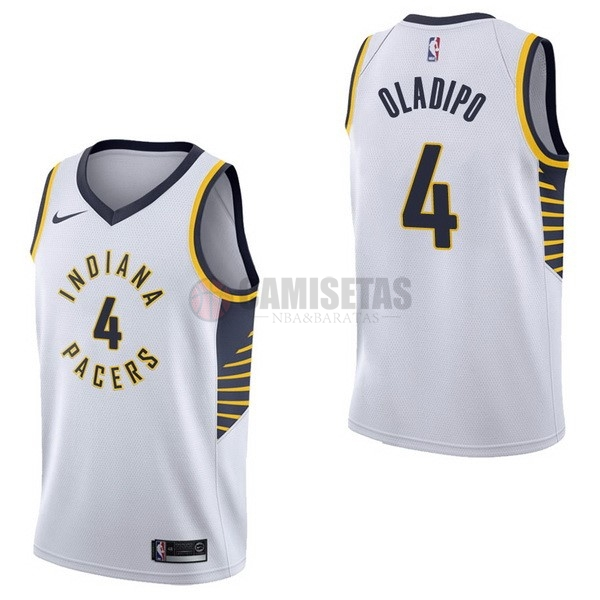 Camisetas NBA Nike Indiana Pacers NO.4 Victor Oladipo Blanco Association Barats