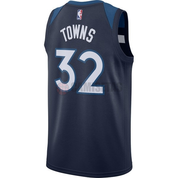 ... Camisetas NBA Nike Minnesota Timberwolves NO.32 Karl Anthony Towns  Marino Icon Barats ... b02fca5edac