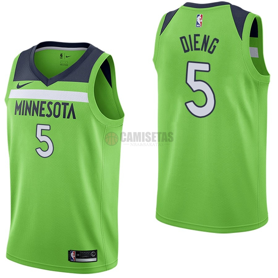 Camisetas NBA Nike Minnesota Timberwolves NO.5 Gorgui Dieng Verde Statement Barats