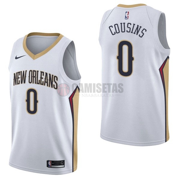 Camisetas NBA Nike New Orleans Pelicans NO.0 DeMarcus Cousins Blanco Association Barats