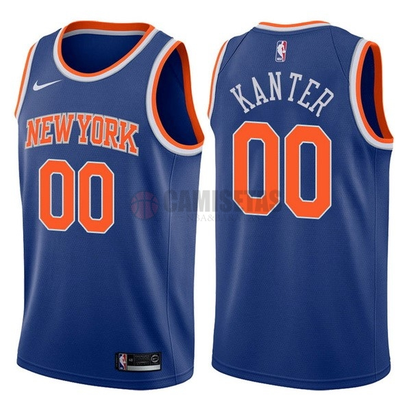 Camisetas NBA Nike New York Knicks NO.0 Enes Kanter Azul Icon Barats