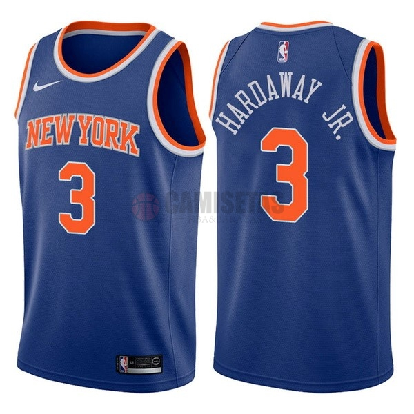 Camisetas NBA Nike New York Knicks NO.3 Tim Hardaway Jr Azul Icon Barats