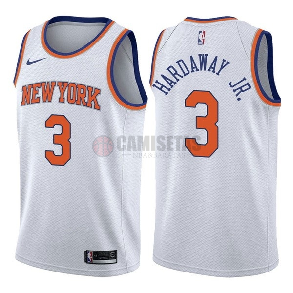Camisetas NBA Nike New York Knicks NO.3 Tim Hardaway Jr Blanco Association Barats