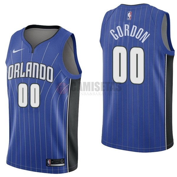 Camisetas NBA Nike Orlando Magic NO.0 Aaro Gordon Azul Icon Barats