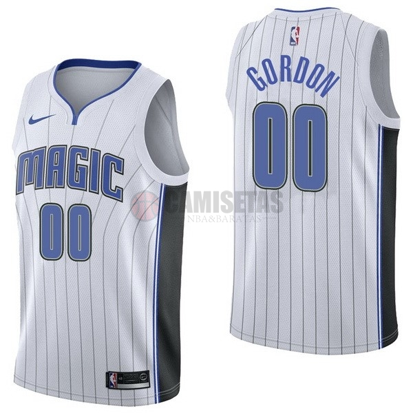 Camisetas NBA Nike Orlando Magic NO.0 Aaro Gordon Blanco Association Barats