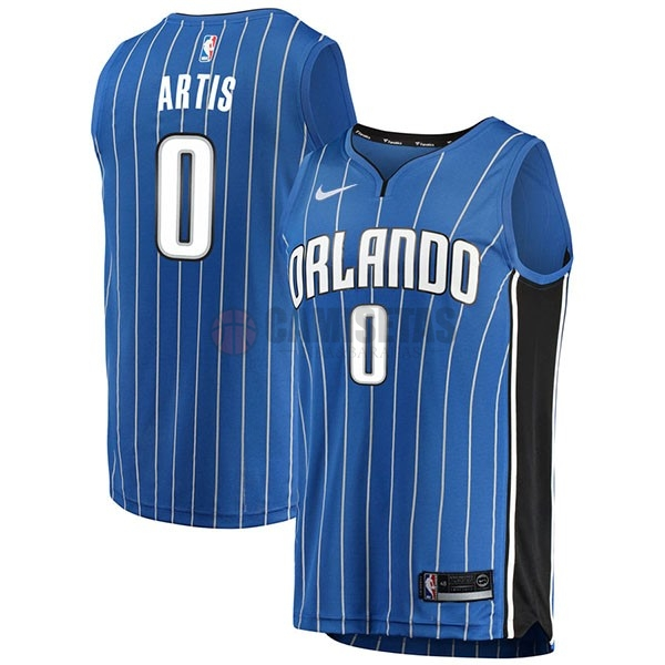 Camisetas NBA Nike Orlando Magic NO.0 Jamel Artis Azul Icon Barats
