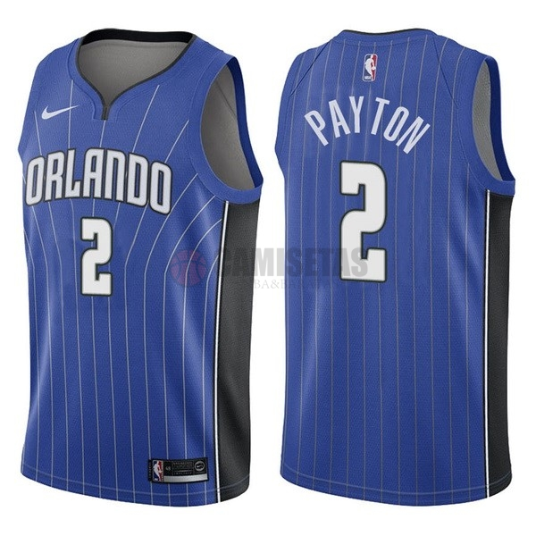 Camisetas NBA Nike Orlando Magic NO.2 Elfrid Payton Azul Icon Barats