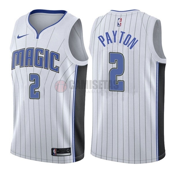 Camisetas NBA Nike Orlando Magic NO.2 Elfrid Payton Blanco Association Barats