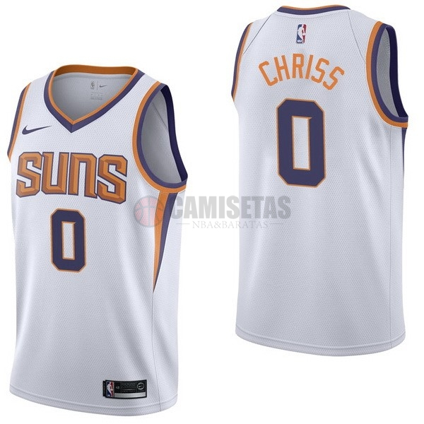 Camisetas NBA Nike Phoenix Suns NO.0 Marquese Chriss Blanco Association Barats