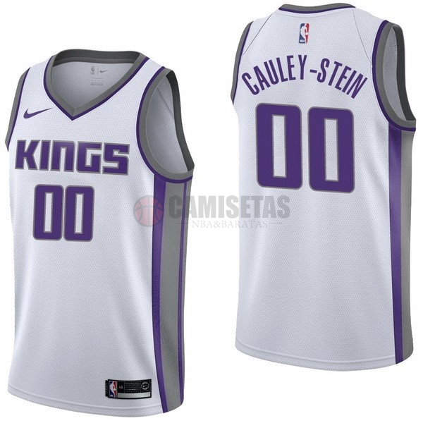 Camisetas NBA Nike Sacramento Kings NO.0 Willie Cauley Stein Blanco Association Barats