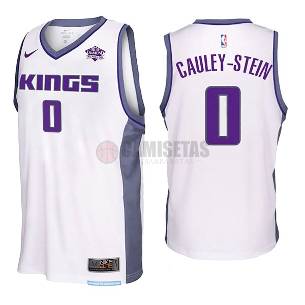 Camisetas NBA Nike Sacramento Kings NO.0 Willie Cauley Stein Blanco Barats