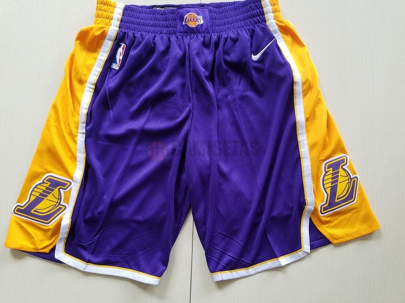 Pantalones Basket Los Angeles Lakers Nike Púrpura Barats