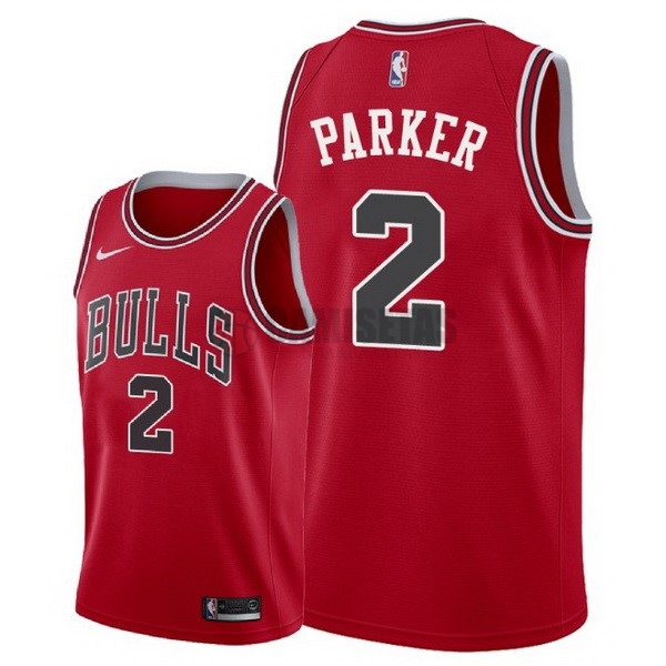 Camisetas NBA Nike Chicago Bulls NO.2 Jabari Parker Rojo Icon 2018 Barats
