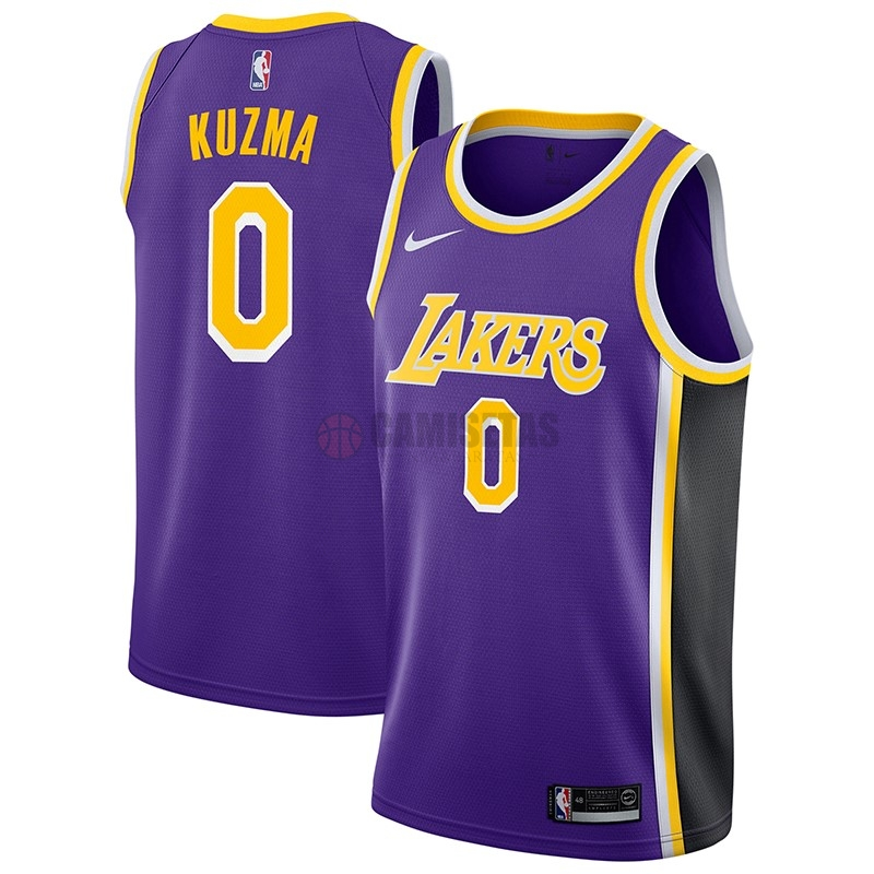 Camisetas NBA Nike Los Angeles Lakers NO.0 Kyle Kuzma Púrpura Statement 2018-19 Barats