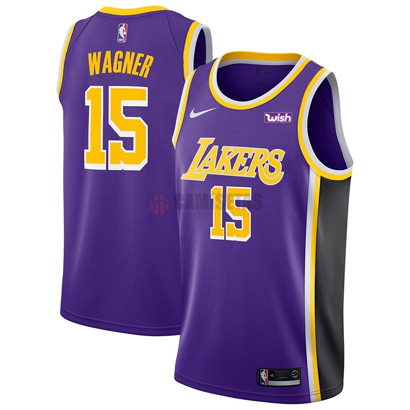 Camisetas NBA Nike Los Angeles Lakers NO.15 Moritz Wagner Púrpura 2018-19 Barats