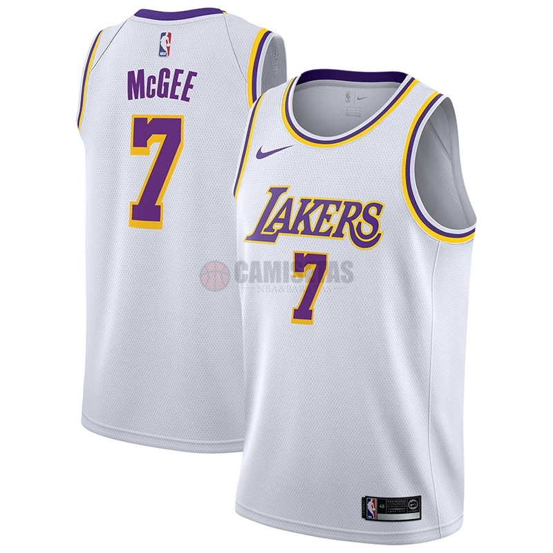 Camisetas NBA Nike Los Angeles Lakers NO.7 JaVale McGee Blanco Association 2018-19 Barats