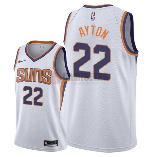 Camisetas NBA Nike Phoenix Suns NO.22 DeAndre Ayton Blanco Association 2018 Barats
