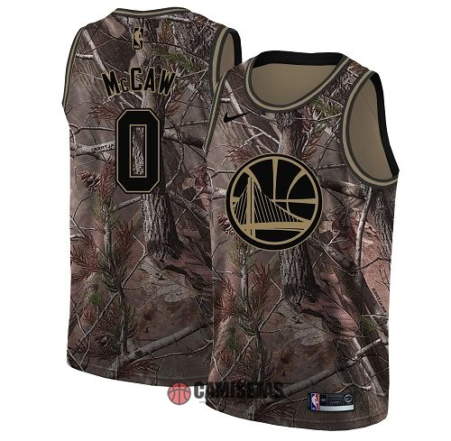 Camisetas NBA Golden State Warriors NO.0 Patrick McCaw Camo Swingman Realtree Collection 2018 Barats