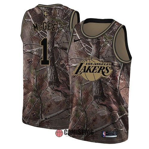 Camisetas NBA Los Angeles Lakers NO.1 JaVale McGee Camo Swingman Realtree Collection 2018 Barats