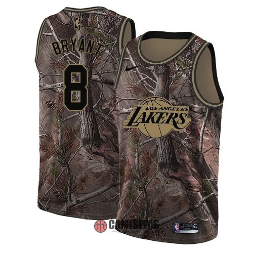 Camisetas NBA Los Angeles Lakers NO.8 Kobe Bryant Camo Swingman Realtree Collection 2018 Barats