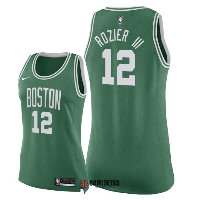 Camisetas NBA Mujer Boston Celtics NO.12 Terry Rozier III Verde Icon 2018 Barats
