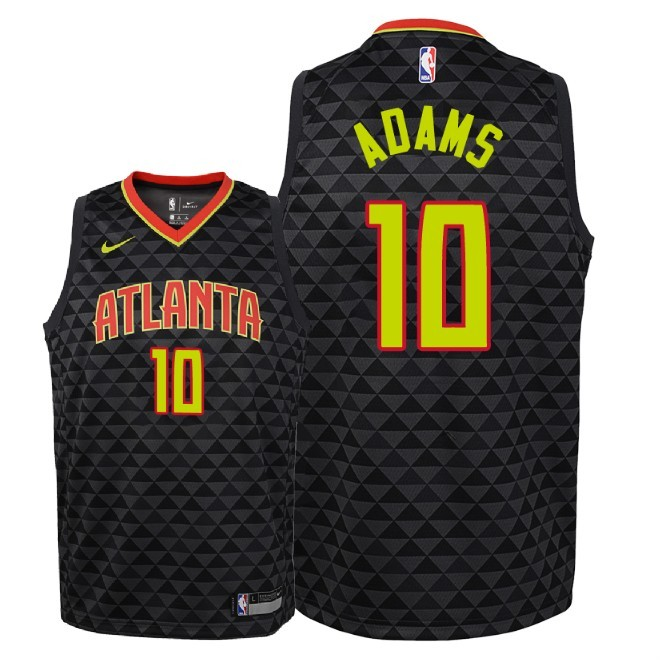 Camisetas NBA Niño Atlanta Hawks NO.10 Jaylen Adams Negro Icon 2018-19 Barats