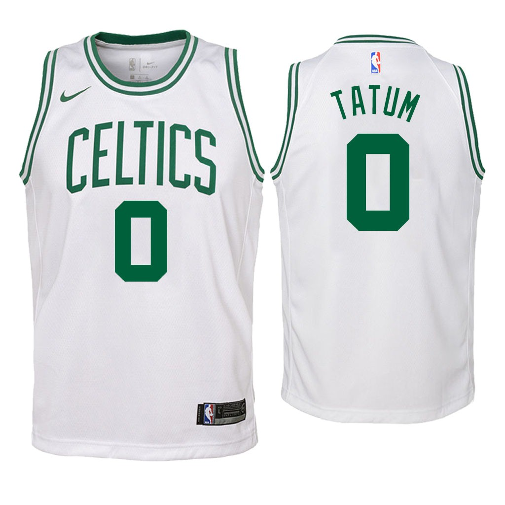 Camisetas NBA Niño Boston Celtics NO.0 Jayson Tatum Blanco Association 2018 Barats