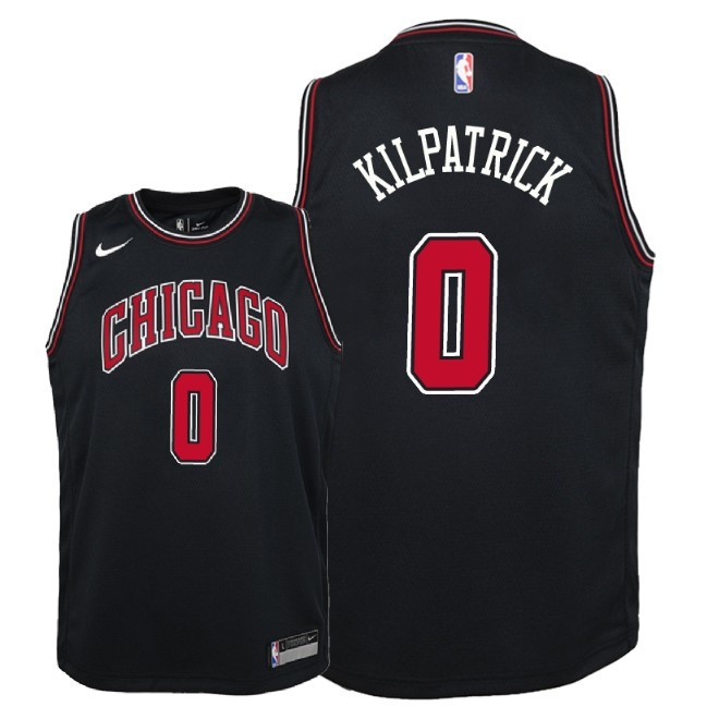 Camisetas NBA Niño Chicago Bulls NO.0 Sean Kilpatrick Negro Statement 2018 Barats