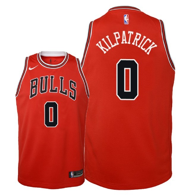 Camisetas NBA Niño Chicago Bulls NO.0 Sean Kilpatrick Rojo Icon 2018 Barats