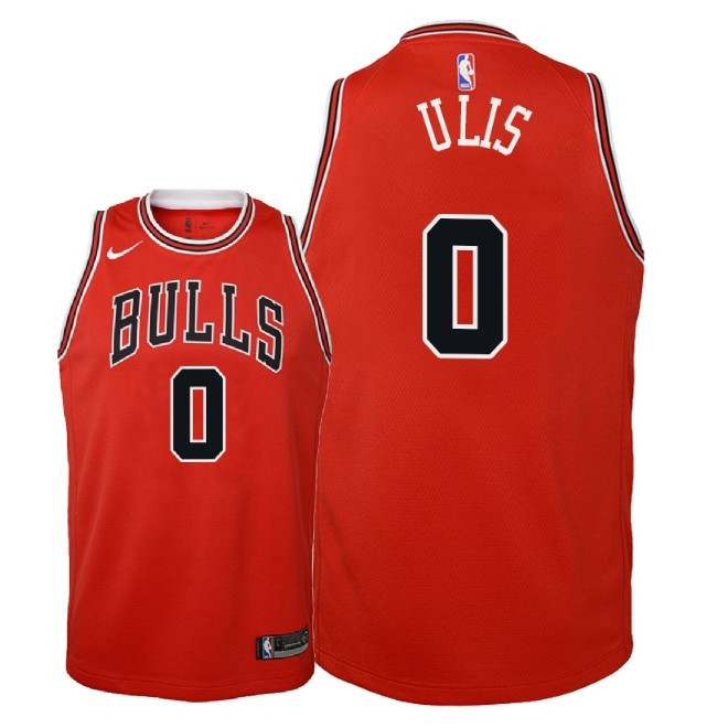 Camisetas NBA Niño Chicago Bulls NO.0 Tyler Ulis Rojo Icon 2018 Barats