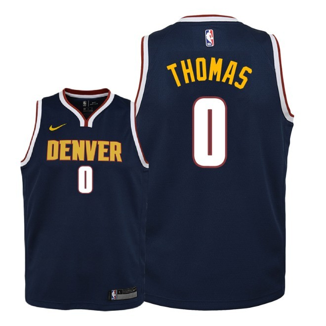 Camisetas NBA Niño Denver Nuggets NO.0 Isaiah Thomas Marino Icon 2018-19 Barats