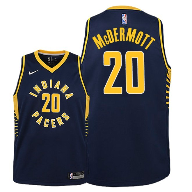 Camisetas NBA Niño Indiana Pacers NO.20 Doug McDermott Marino Icon 2018-19 Barats