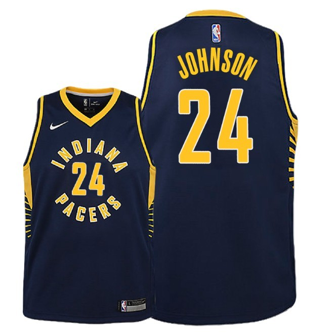 Camisetas NBA Niño Indiana Pacers NO.24 Alize Johnson Marino Icon 2018-19 Barats
